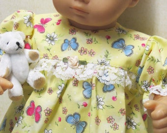 Yellow Shortie Nightgown and Panties for Bitty Baby