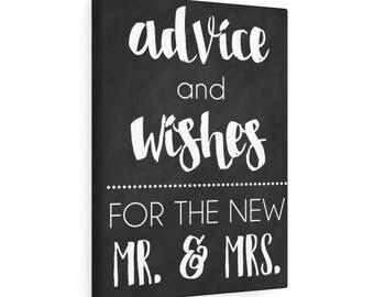Mr  Mrs Wedding Advice  Canvas Gallery Wraps
