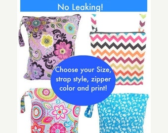 On Sale Wet Bag, waterproof washable wetbag, you pick size, wet bags for cloth diapers, swimsuits