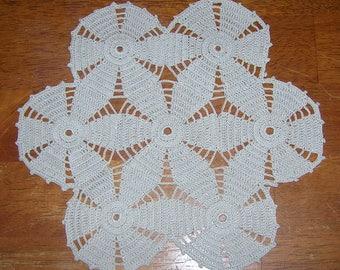 Vintage Hand Crocheted Ecru Motif Doily