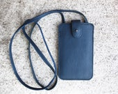 Reserved to Kathryn Navy iPhone 5 Case for women, iphone SE case blue leather, phone case, unique handmade