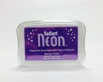25% Off Summer Sale Tsukineko Radiant Neon Pigment Ink in Electric Purple