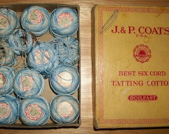 Box of Vintage Tatting Cotton