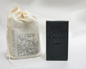 Charcoal Soap - Rosemary & Tea Tree Oil Soap Bar, Soap for Acne, Vegan Face Wash, Deodorant Soap, Organic Charcoal Soap for Men