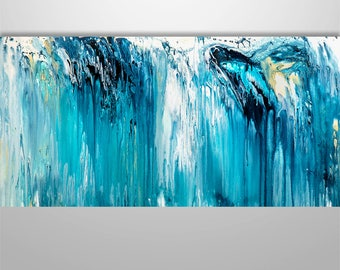 Abstract Painting, Abstract Seascape, Abstract Wall Art, Original Painting, Wall Decor, Wall Art, Home Decor, Gabriela Art, Modern Abstract