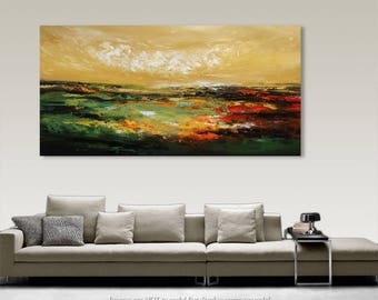 Palette Knife Painting, Modern Painting, Art, LARGE Painting, Wall decor, Wall Art, Canvas Art, Acrylic painting, Art by Catalin Seascape