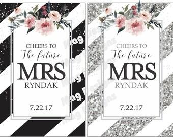 Future Mrs. Wine Label - Wedding Bottle Labels - Bridal Shower Wine Label