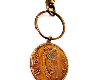 1941 Irish Copper PENNY Mens  GOLF Keychain/keyring-Irish Key Fob