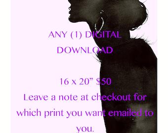 "16 x 20"" Any (1)  Artwork Digital Download"