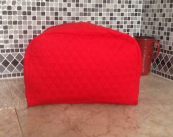 Red 4 Slice Zipper Kitchen Toaster Small Appliance Cover Ready to Ship