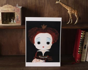 The Queen of Hearts art print A4 size Satin Glossy photo paper