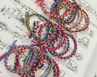 Braided Ponytail Holder Braclet Hair Tie String Elastic 30pc