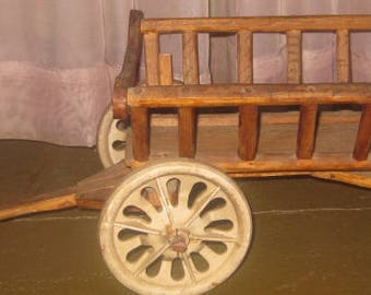 Vintage Handmade Wooden Wagon/Cart