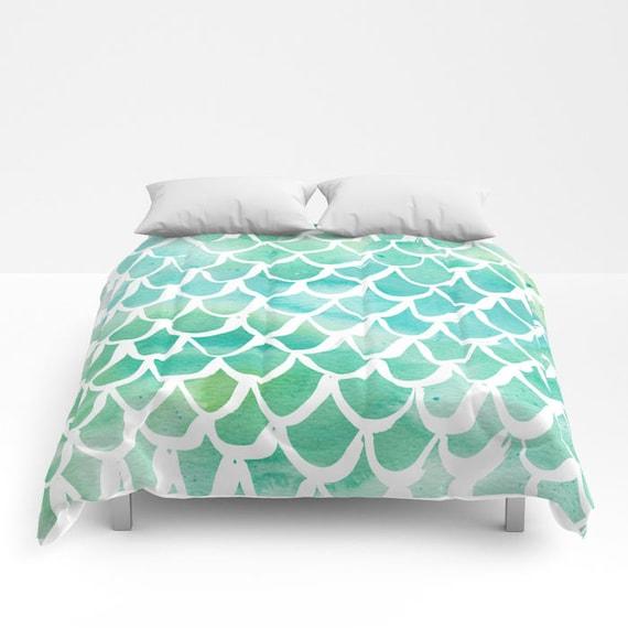 Aqua Mermaid Comforter - Twin XL Comforter - Queen Comforter - King Comforter - Full Comforter - Twin Comforter Twin XL Bedding Bedspread