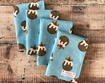 Christmas Pudding Napkins
