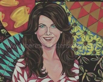 "12""x12"" Lorelai Gilmore Inspired Fine Art Print Gilmore Girls"