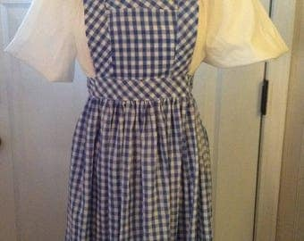 Dorothy Dress Wizard of Oz Halloween Costume Girls 2 piece Dress and Apron Pinafore available in sizes