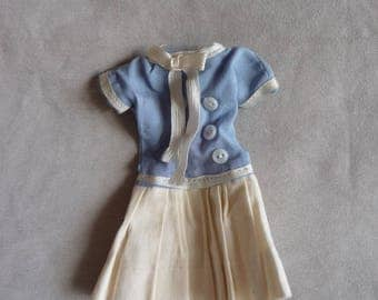 vintage dress for small doll