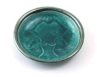 Raku pottery Gaia Offering BowlHandmade