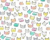 Dear Stella - Cattitude Collection - Cat Heads in White