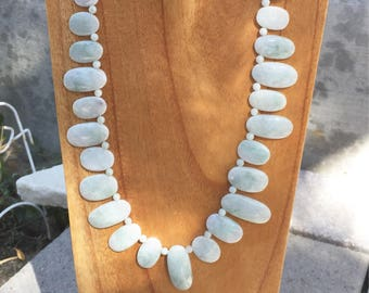 Jade Necklace  Burmese Jade  Bold Jade Necklace  Bib Necklace  Natures Splendour  Green Necklace