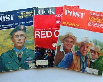 3 Large 1965 Magazines