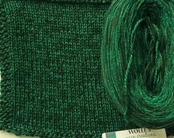 SPRUCE SILK HEATHER -- Sport Weight -- Silk/Cotton/Merino yarn (100 gr /320 yards)