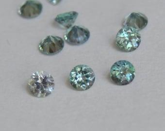 Kornerupine Rounds 2.7mm, Kornerupine, Round Melee, Blue Gems