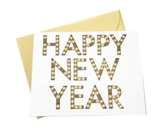 Happy New Year, Nondenominational Holiday Card, Happy Holidays, Generic Holiday Card, Everyone Holiday Card, Inclusive Holidays, New Years
