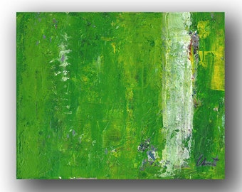 """Abstract Painting. """"Green Stripe"""""""