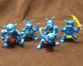 Hasbro Blue Army Ants loose group #3 - 1987