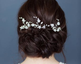 Bridal hair pins / wedding hair pins / set of hair pins / wedding hair accessory / bridesmaid hair pins / MAYBLOSSOM