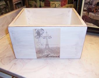 Paris France Eiffel Tower storage box,French Farmhouse,Paris decor,Paris theme,French rustic,Paris bedroom decor,Paris wedding decor