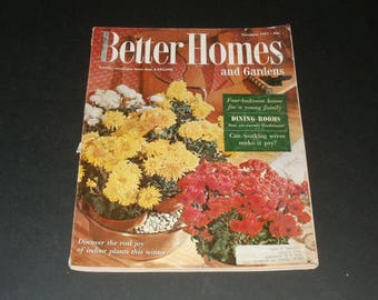 Vintage Better Homes and Gardens Magazine November 1957, Cool Collectible, Vintage Ads, Scrapbooking, 242 Pages