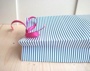 Nice gift box * sailor * blue stripe