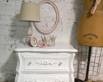 Painted Cottage Chic Shabby Romantic French Night Table NT927