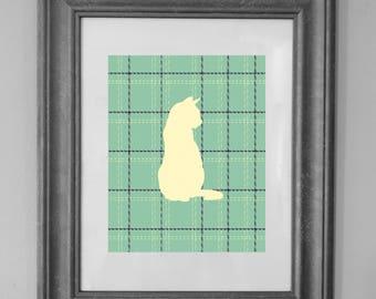 Cat Tweed Printable Art Prints / Nursery Decor / Easter Decor / Cat Lover / Home Decor / INSTANT DOWNLOAD
