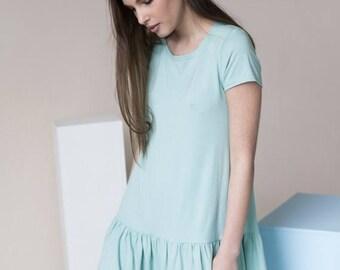 SALE - Cotton dress | Loose fitting dress | Mint green dress | LeMuse cotton dress
