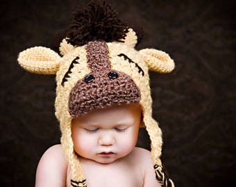 CROCHET PATTERN Sweet Slumber Giraffe Hat (Sizes Newborn to 10 Years) Permission to sell all finished items