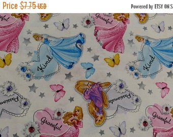 DISNEY's Princess Print Fabric fabric---So Cute 40-70% off Patterns n Books SALE