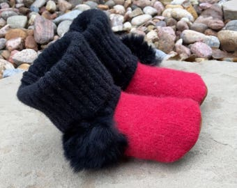 Cashmere Toddler Slippers: size 5-7