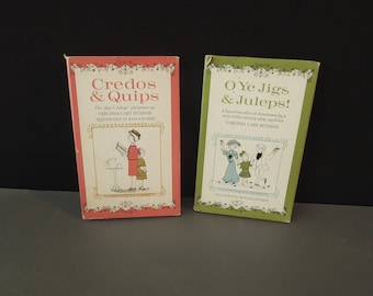 Oh Ye Jigs & Juleps Credos and Quips Book Set - Vintage Gift Book - Set of Two Books   Vintage