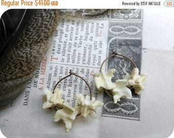 SALE Manasa earrings. Queen Of Snakes. Snake Bone hoops Bone Jewelry. Python Bone .Copper Hoop Earrings & Genuine serpent earrings. gift wra