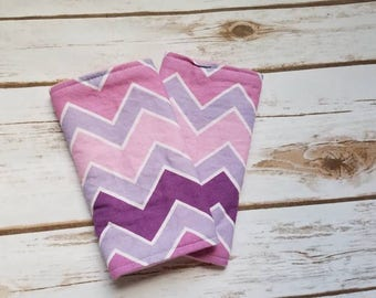 Purple chevron suck pads/drool pads/purple/chevron/zigzag/ombre/babycarrier/accessories/SSC