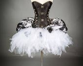 Size Medium Jack Skellington corset dress zombie Burlesque Corset Nightmare before Christmas SteamPunk day of the dead witch costume