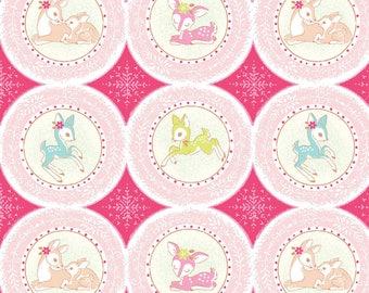 Christmas Dear Holiday Fabric Delightfully Whimsical Deer Medallions