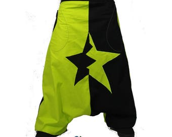 Personalized and custom star unisex harem pants