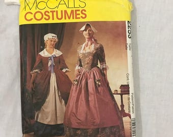McCalls Civil War Revolutionary War Costume Sewing Pattern 16-20