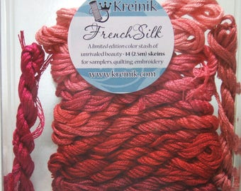 Kreinik French Silk Embroidery Thread Floss Red Collection B4201