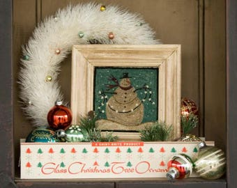 Snowman Frosty Flakes Christmas 641 Punchneedle Punch Needle Threads That Bind Pattern